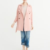 Womens Drapey Trench Coat | Womens New Arrivals | Abercrombie.com