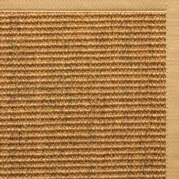 Sustainable Lifestyles Cognac Sisal Rug with Honeycomb Cotton Border