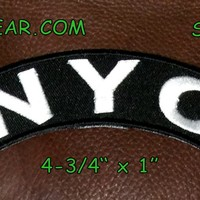 NYC Embroidered Small Rocker Patch Biker Patches New York City
