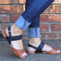 On the Boardwalk Color Block Sandals