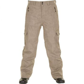 NEW 2013 O'Neill Womens PMEX Chino Beige Line Up Gaiter Snowboarding Ski Pants M