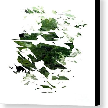 Abstract Acrylic Painting Broken Glass The Forest Canvas Print