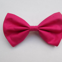Classic Neon Pink Hair Bow