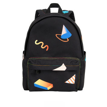Black Geo Backpack