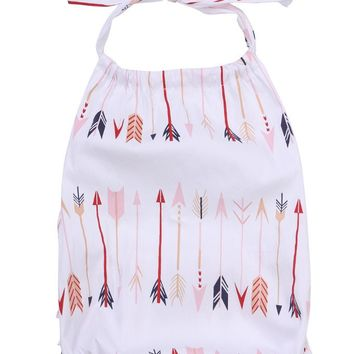 Fashion Cute Baby Infant Girls Halter straps Belt Clothes Romper Jumpsuit Sets Outfits White
