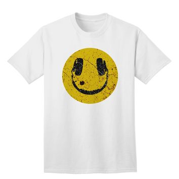 EDM Smiley Face Adult T-Shirt by TooLoud