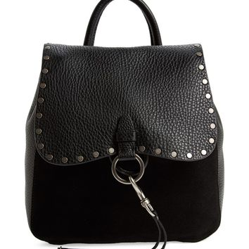 Rebecca Minkoff Small Keith Suede & Leather Backpack | Nordstrom