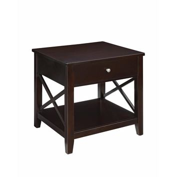Traditional Style Wooden End Table, Brown-Coaster