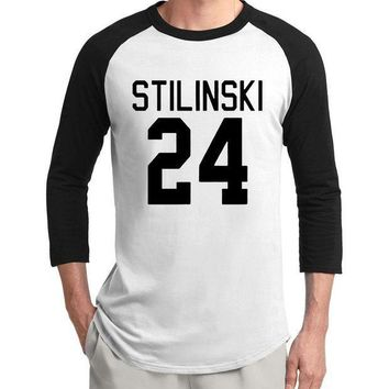 PEAP78W hot sale Teen Wolf Stilinski 24 raglan t shirts men 2017 new summer 3/4 sleeve men t shirt 100% cotton high quality men tshirt