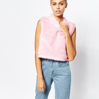 The Ragged Priest Fluffy Furby Faux Fur High Neck Top