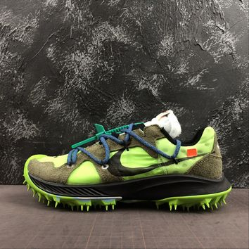 Off-White x Nike Zoom Terra Kiger 5 Electric Green Metallic Silver-Sail - Best Deal Online