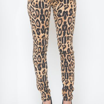 TRIPP NYC LEOPARD STRETCH JEANS