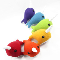 Stuffed Animal Narwhal Plush Toy Custom Order Small