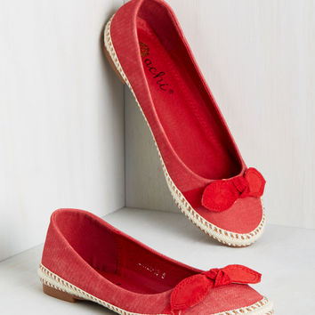 Bows and Poetry Flat | Mod Retro Vintage Flats | ModCloth.com