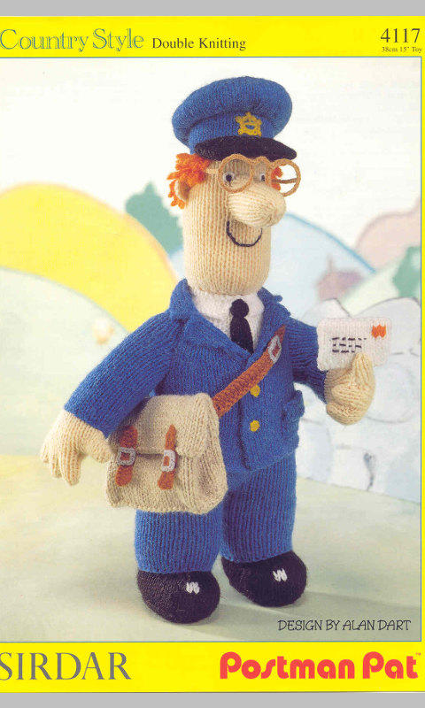 Postman Pat Knitting Pattern Pdf Instant From Edithcrafts