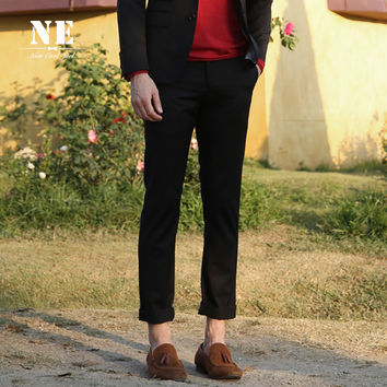 Pants Classics Black Stylish Slim Casual Blazer Pant [7951300419]