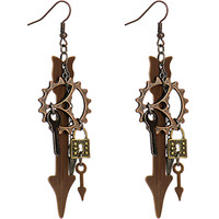 Handcrafted Steampunk Charm Fishhook Earrings | Body Candy Body Jewelry