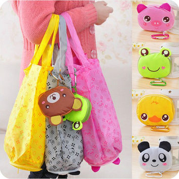 Eco Storage Handbag Cute Animals Foldable Shopping Tote Bags Reusable Bag
