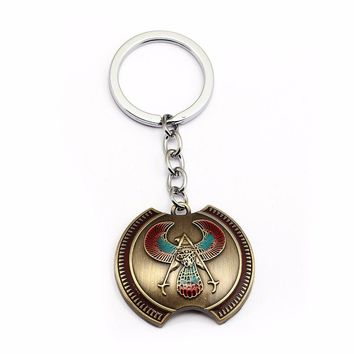 HSIC Assassins Creed New Game Assassin's Creed Alloy Keyring Eagle Logo Charm Pendant Shield Keychain Souvenir Men Jewelry HC12