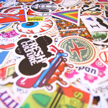 50 PCS Random Mixed Laptop Skateboard Guitar Decoration Graffiti Stickers Pack Lot 50 pieces