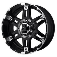 XD Wheels Part W/P79778068318 - XD797 Spy, 17x8 with 6 on 5.5 Bolt Pattern - Gloss Black Machined Face - 4 Wheel Parts