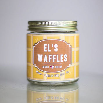 El's Waffles-- Stranger Things Inspired Soy Candle (4 oz)