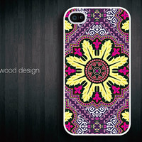 iphone 4 cases iphone 4s case iphone 4 cover classic colorized purple yellow  pattern design