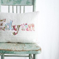 A Monogrammed Pillow and Pillow Cover for the by mollyannemake