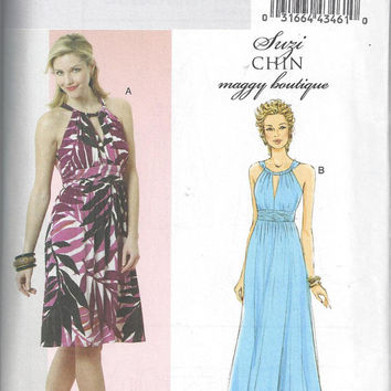 Butterick 5491 New Pattern for Misses' Halter Dress, Suzi Chin, Maggy Boutique Design. FACTORY FOLDED, UNCUT, Size 6-12
