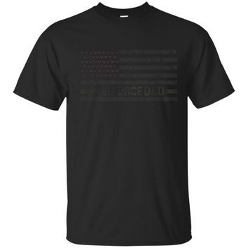 USA US Flag Proud Air Force Dad T-Shirt Daddy Military