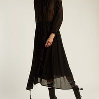 Wrap-skirt stretch-tulle midi dress | Vetements | MATCHESFASHION.COM US