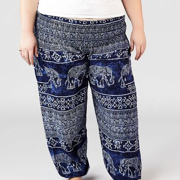 Minnie Blue Plus Size Harem Pants