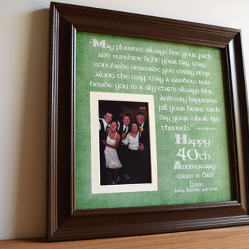 Irish Wedding Gift, Irish Wedding Anniversary, Irish Anniversary, Irish Anniversary Blessing, Irish Wedding Blessing, Irish Frame, 15x15