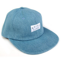 Quiet Life: Denim Polo Hat - Light Blue Denim