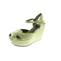 Marni Womens Leather Solid Wedges