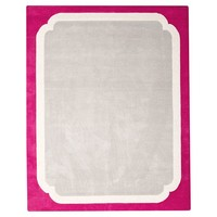 Color Pop Border Rug, Pink Magenta