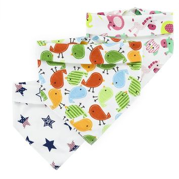 Baby Bibs cotton Boy Girl Children's Clother Bandana Accessories Cute Pattern Toddler Triangle Newborn Towel Bibs Burp Triangle