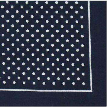 Free Shipping New Cotton Red Navy Blue Polka Dot Bandana Scarf For Women Mens hair accessories