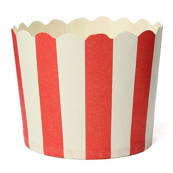 50X Cupcake Wrapper Paper Cake Case Baking Cups Liner Muffin Kitchen Baking Red Stripes