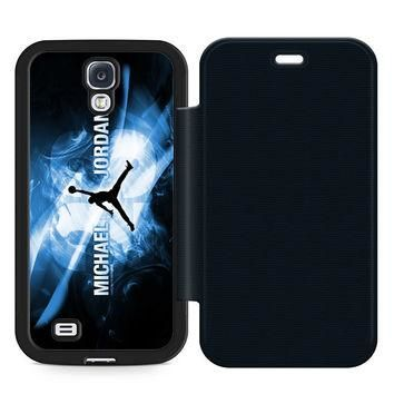 Michael Jordan Leather Wallet Flip Case Samsung Galaxy S4