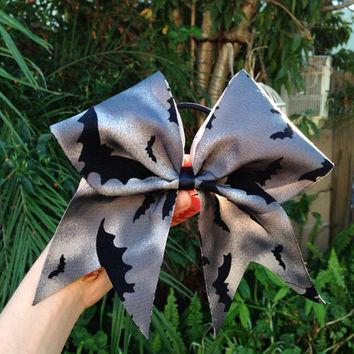 Bat Halloween Cheer Bow