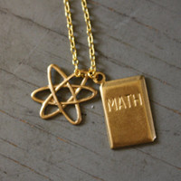 Math and Science Nerd Cluster Necklace