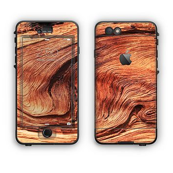 The Wavy Bright Wood Knot Apple iPhone 6 Plus LifeProof Nuud Case Skin Set