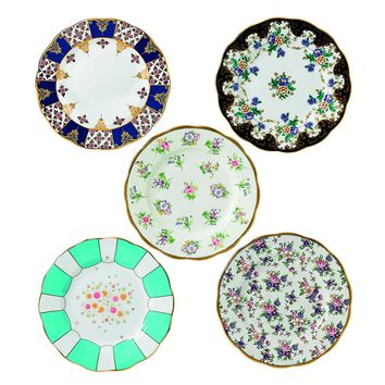 "Royal Albert 40017560 100 Years 1900-1940 Plate Set, 8"", Multicolor , 5 Piece"
