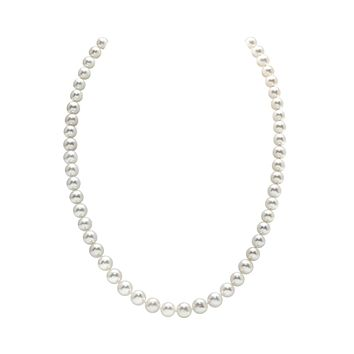 7mm Japanese Akoya White Salt Water Pearl Necklace