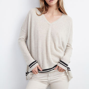 STORMY DOUBLE STRIPE CASHMERE