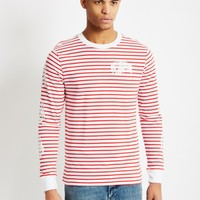 Billionaire Boys Club Striped Long Sleeve T-Shirt Red - New In at The Idle Man