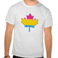Pansexuality pride maple leaf T-Shirt