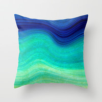SEA BEAUTY 3 Throw Pillow by catspaws