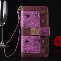 MCM Fashion iPhone Phone Cover Case For iphone 6 6s 6plus 6s-plus 7 7plus hard shell Leather Case